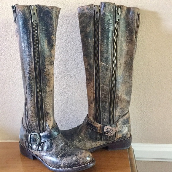 399c0247de8 Bed Stu Tango Distressed Tall Moto Boot/Duel Zip
